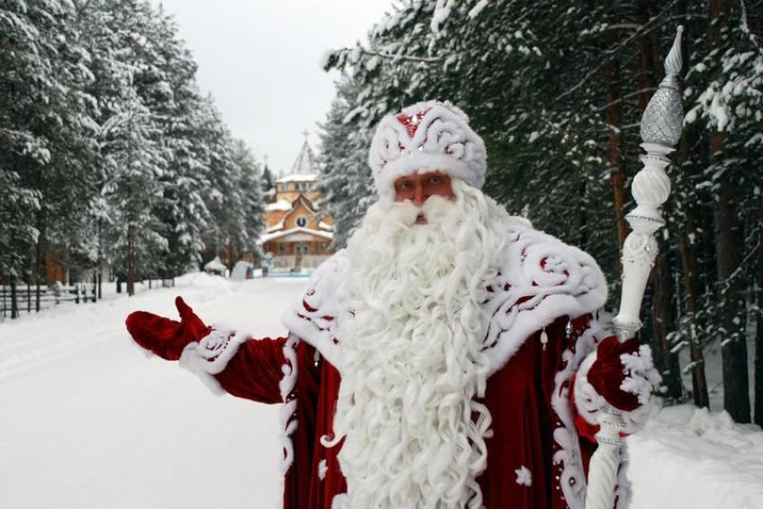 Дед мороз и сани иПрически на волосы